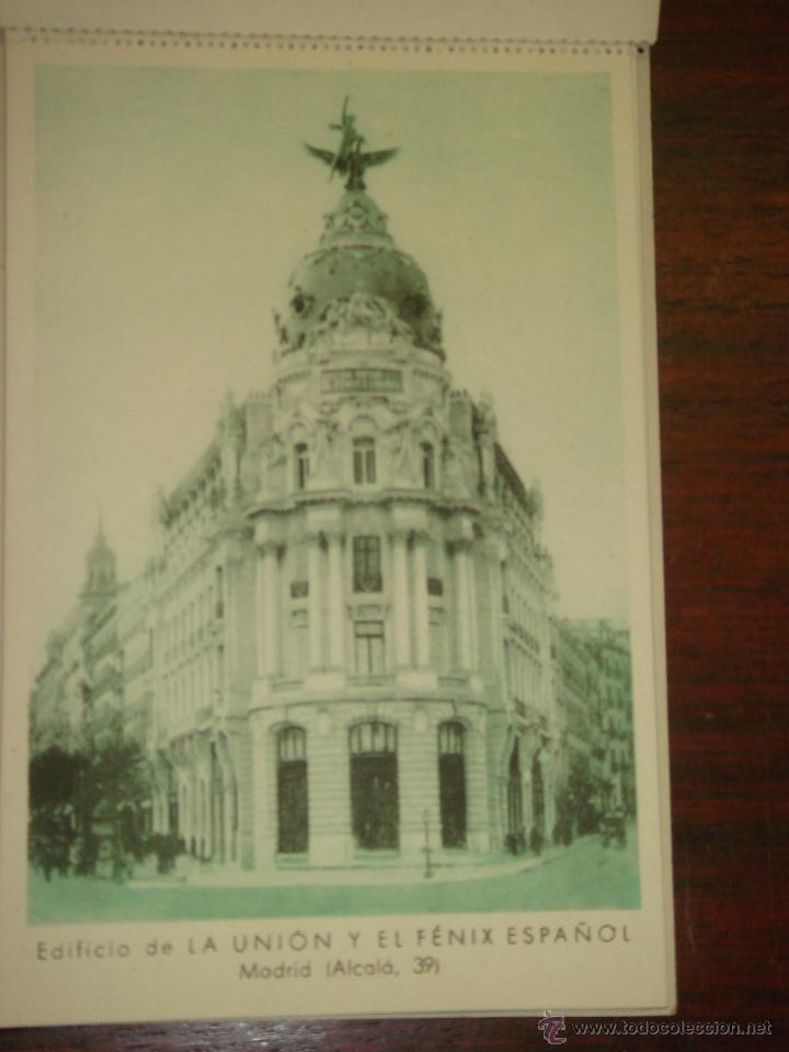 Postales: ANTIGUO ALBUM DE 12 POSTALES DE LA UNIÓN Y EL FÉNIX ESPAÑOL. SIN CIRCULAR. - Foto 3 - 43075104