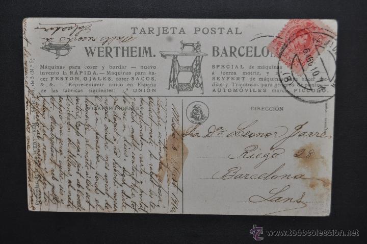 Postales: ANTIGUA POSTAL PUBLICITARIA DE LA CASA WERTHEIM. ILUSTRADA POR RAMON CASAS. ED. THOMAS. CIRCULADA - Foto 2 - 43509935