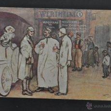 Postales: ANTIGUA POSTAL PUBLICITARIA DE LA CASA WERTHEIM. ILUSTRADA POR RAMON CASAS. ED. THOMAS. CIRCULADA. Lote 43510201