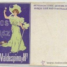 Postales: POSTAL DE PUBLICIDAD VALDESPINO VINOS DE JEREZ P-PUB-216,5. Lote 43510847