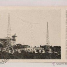 Postales: ANTIGUA POSTAL PUBLICITARIA EAJ 1 RADIO BARCELONA - ANTENAS EN EL TIBIDABO - PUBLICIDAD AL DORSO. Lote 43645290