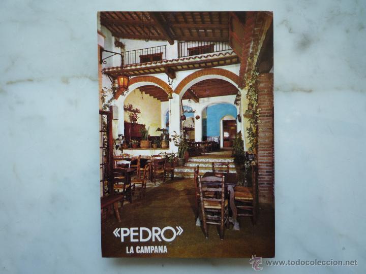 POSTAL PUBLICIDAD 1967 *PEDRO LA CAMPANA* LLORET DE MAR COSTA BRAVA FOTO MAS SELLOS 2213 HISPANIDAD (Postales - Postales Temáticas - Publicitarias)