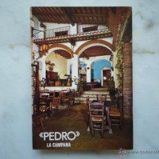 Postales: POSTAL PUBLICIDAD 1967 *PEDRO LA CAMPANA* LLORET DE MAR COSTA BRAVA FOTO MAS SELLOS 2213 HISPANIDAD. Lote 43674201
