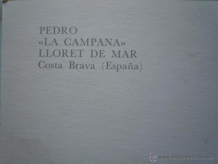 Postales: Postal Publicidad 1967 *PEDRO LA CAMPANA* Lloret de Mar Costa Brava Foto Mas Sellos 2213 Hispanidad - Foto 3 - 43674201