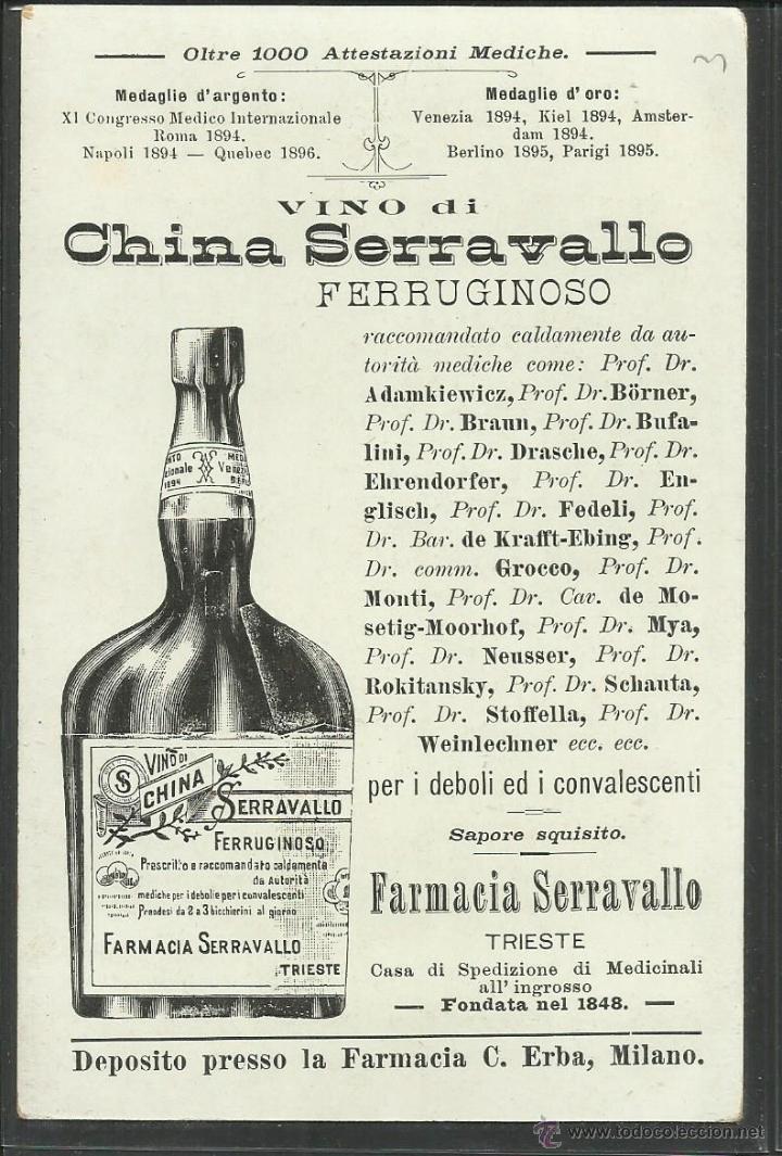 Postales: PUBLICIDAD FARMACIA SERRAVALLO - TRIESTE- CONJUNTO 4 POSTALES TARJETAS - VER REVERSO - (23324) - Foto 6 - 43770071
