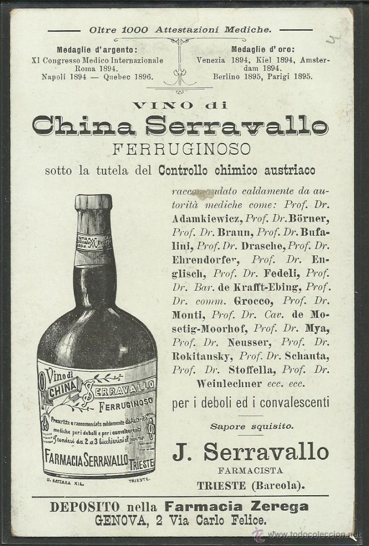 Postales: PUBLICIDAD FARMACIA SERRAVALLO - TRIESTE- CONJUNTO 4 POSTALES TARJETAS - VER REVERSO - (23324) - Foto 7 - 43770071