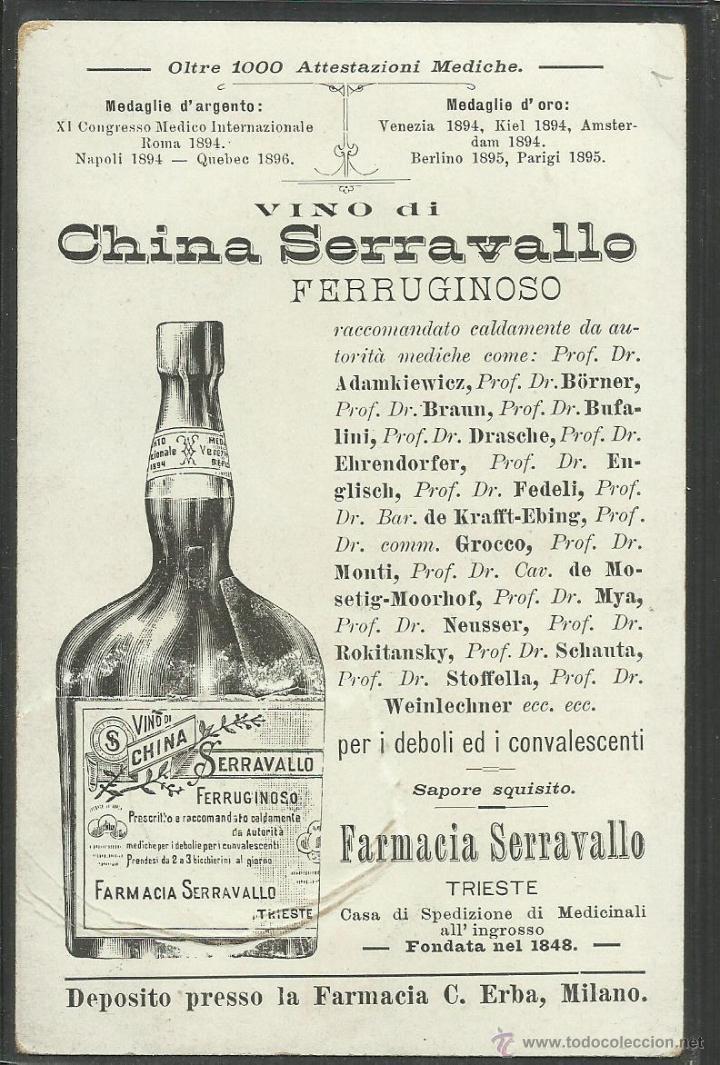 Postales: PUBLICIDAD FARMACIA SERRAVALLO - TRIESTE- CONJUNTO 4 POSTALES TARJETAS - VER REVERSO - (23324) - Foto 8 - 43770071