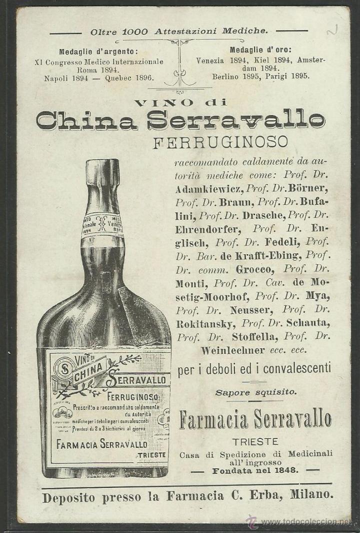Postales: PUBLICIDAD FARMACIA SERRAVALLO - TRIESTE- CONJUNTO 4 POSTALES TARJETAS - VER REVERSO - (23324) - Foto 9 - 43770071