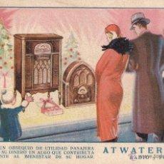 Postales - POSTAL PUBLICITARIA DE RADIO Y FONO : ATWATER - KENT - 43858932