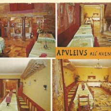 Postales: TARJETA POSTAL PUBLICITARIA - APVLEIVS - RISTORANTE ALL AVENTINO ROMA AÑOS 60. Lote 44223438