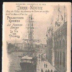 Postales: TARJETA POSTAL PUBLICITARIA. TERRE - NUEVE. EXPOSICION UNIVERSAL 1900.. Lote 44349504
