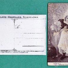 Postales: ANTIGUA POSTAL PUBLICITARIA - CHOCOLATE AMATLLER - ARTE - LA PREFERIDA / MILE CHARDERON . Lote 44752082
