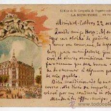 Postales: COMPAÑIA DE SEGUROS SOBRE LA VIDA. POSTAL PUBLICITARIA ORIGINAL. AÑOS 1900S. Lote 44774592
