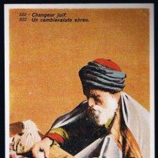 Cartoline: POSTAL ANTIGUA HISTORIA GRÁFICA DEL SIGLO XX. IMPR. MATEU CROMO - CHANGEUR JUIF. . Lote 44855014