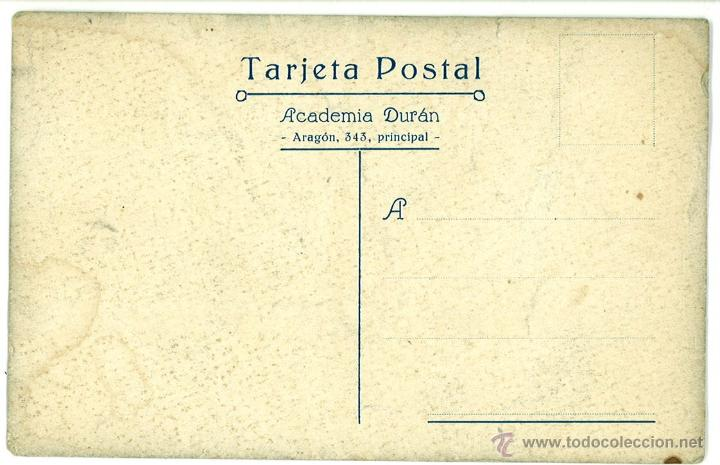 Postales: POSTAL PUBLICIDAD ACADEMINA ARNAU. CALLE ARAGON. BARCELONA. SIN CIRCULAR - Foto 2 - 44981868