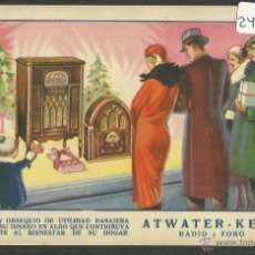 Postales - POSTAL PUBLICITARIA - RADIO FONO - ATWATER KENT - (24049) - 44985358