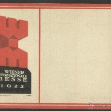 Postales: POSTAL PUBLICITARIA - FERIA INTERNACIONAL DE VIENA 1922 - (24058). Lote 44985772