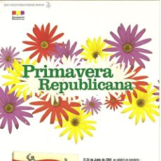 Postales: POSTAL, CD - CONCIERTO, RECUPERANDO MEMORIA, PRIMAVERA REPUBLICANA, POSTAL FREE. Lote 45150528
