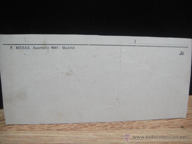 Postales: tarjeta antigua de tienda de repuestos de bicicleta - f. mesas - Foto 2 - 45413480