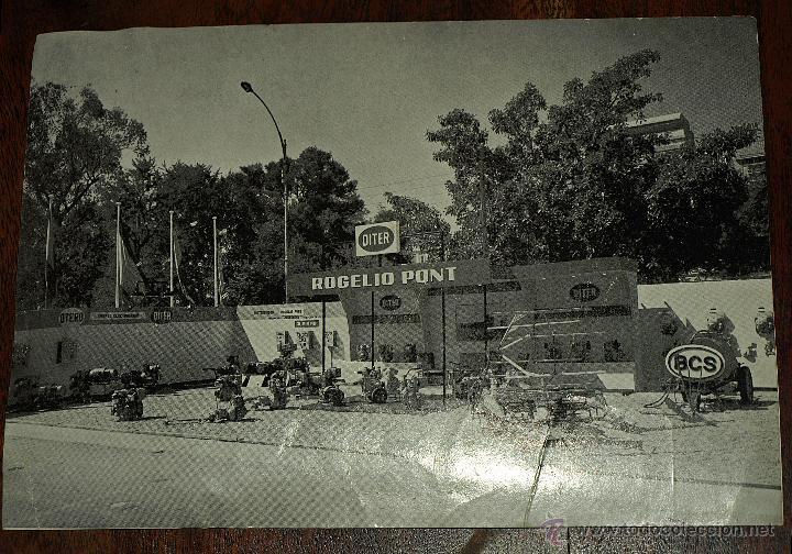 TARJETA POSTAL ROGELIO PONT. VALENCIA. MAQUINARIA. FERIA MUESTRAS LA ALAMEDA. 1969. VER FOTOS Y MAS. (Postales - Postales Temáticas - Publicitarias)