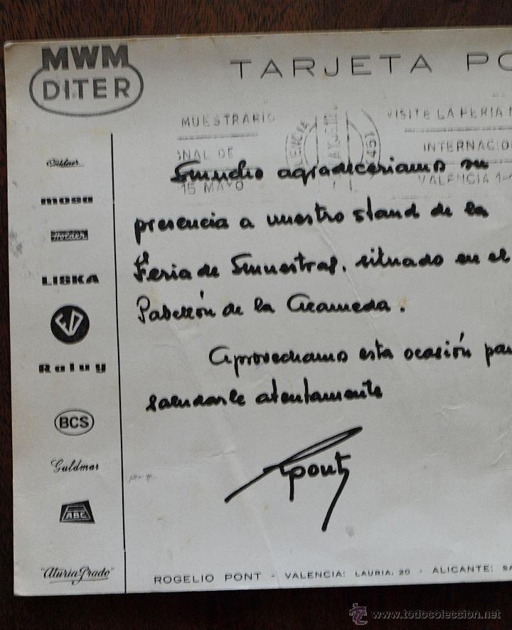 Postales: TARJETA POSTAL ROGELIO PONT. VALENCIA. MAQUINARIA. FERIA MUESTRAS LA ALAMEDA. 1969. VER FOTOS Y MAS. - Foto 10 - 45524490