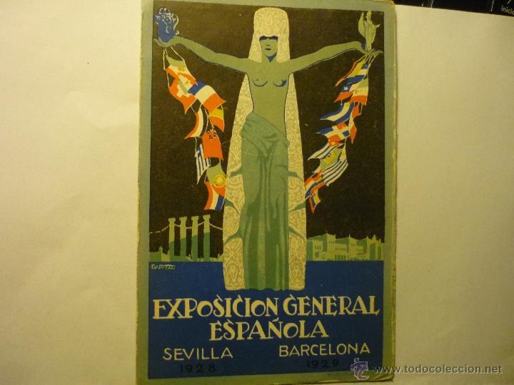 POSTAL EXPOSICION GENERAL ESPAÑOLA-SEVILLA-BARCELONA 1928-29 BB (Postales - Postales Temáticas - Publicitarias)