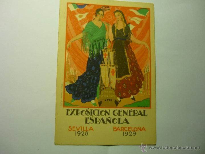 POSTAL EXPOSICION GENERAL ESPAÑOLA - SEVILLA BARCELONA 1928-29--BB (Postales - Postales Temáticas - Publicitarias)
