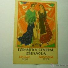 Postales: POSTAL EXPOSICION GENERAL ESPAÑOLA - SEVILLA BARCELONA 1928-29--BB. Lote 45625402