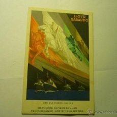 Postales: POSTAL LLOYD SABAUDO.-EXPOSICION GENERAL ESPAÑOLA--BB. Lote 45733266
