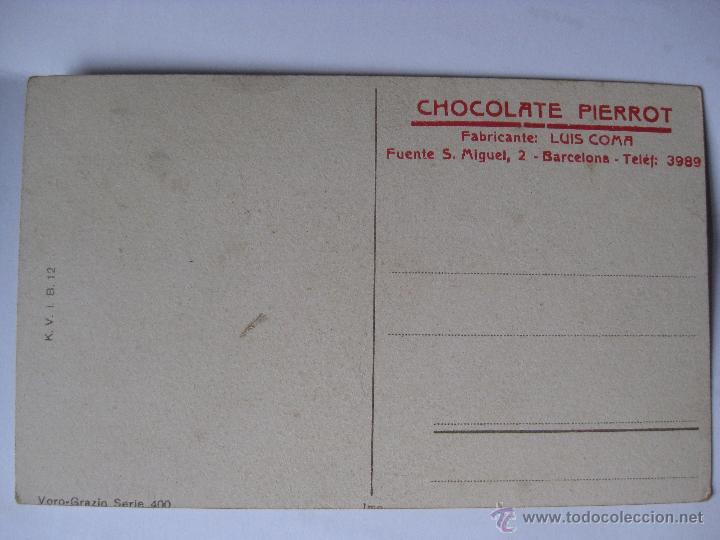 Postales: POSTAL PUBLICIDAD CHOCOLATE PIERROT, MUY RARA - Foto 2 - 46146314