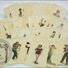 Postales: 57 POSTALES ACTORES Y ACTRICES ESPAÑOLES, INICIOS S XX, PARTITURAS - PUBLICIDAD LA GLORIA - CROMOS. Lote 46149210