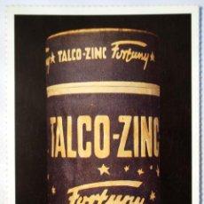 Postales: POSTAL EN BUSCA DEL DISEÑO PERDIDO. BOTE POLVOS DE TALCO. TALCO ZINC FORTUNY. AÑOS 50.. Lote 46204982