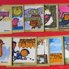 Postales: LOTERIA NACIONAL - 12 TARJETAS POSTALES - SERIE H - DIBUJOS GARBAYO. Lote 46275389