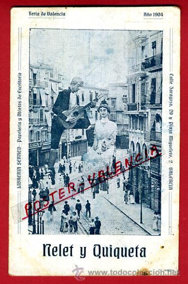 POSTAL PUBLICIDAD, FERIA DE VALENCIA 1904 , NELET Y QUIQUETA , REVERSO SIN PARTIR , ORIGINAL, P97103 (Postales - Postales Temáticas - Publicitarias)