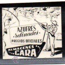 Postales: POSTALITA DE AZUFRES REFINADOS, ALMACENES CARA. FOTO FIJA DE LOS CINES. MUY RARA LEER EXPLICACION. Lote 46621570