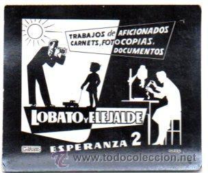 POSTALITA PUBLICIDAD LOBATO Y ELEJALDE. FOTOCOPIAS CARTENT Y DOCUMENTOS. FOTO FIJA, LEER (Postales - Postales Temáticas - Publicitarias)