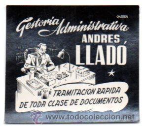 POSTALITA PUBLICIDAD GESTORIA ADMINISTRATIVA ANDRES LLADO, BALEARES. FOTO FIJA, LEER . (Postales - Postales Temáticas - Publicitarias)