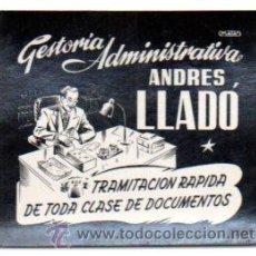 Postales: POSTALITA PUBLICIDAD GESTORIA ADMINISTRATIVA ANDRES LLADO, BALEARES. FOTO FIJA, LEER .. Lote 46621730