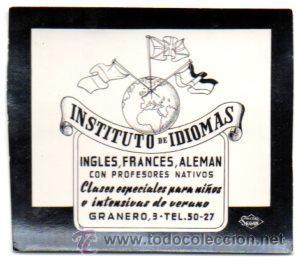 POSTALITA PUBLICIDAD INSTITUTO DE IDIOMAS, PUBLICIDAD SEGUI. FOTO FIJA, LEER . (Postales - Postales Temáticas - Publicitarias)