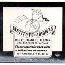 Postales: POSTALITA PUBLICIDAD INSTITUTO DE IDIOMAS, PUBLICIDAD SEGUI. FOTO FIJA, LEER .. Lote 46621746