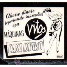 Postales: POSTALITA PUBLICIDAD MAQUINA VITOS REPARADORA DE MEDIAS. CASA ISIDRO. FOTO FIJA, LEER .. Lote 46621785