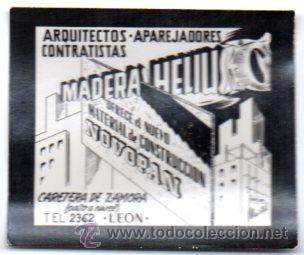 POSTALITA PUBLICITARIA,MADERA HELIUS,LEÓN,NOVOPAN,MUY RARA E INTERESANTE (Postales - Postales Temáticas - Publicitarias)