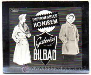 POSTALITA PUBLICITARIA,GALERIAS BILBAO,VIZCAYA.LUZ FIJA DE LOS CINES,MUY RARA (Postales - Postales Temáticas - Publicitarias)