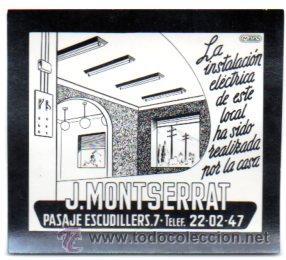 FOTOGRAFIA PUBLICITARIA,J.MONTSERRAT,BARCELONA,ORIGINAL,MUY RARA,LUZ FIJA DE LOS CINES (Postales - Postales Temáticas - Publicitarias)