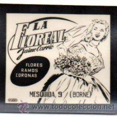 Postales: FOTOGRAFIA PUBLICITARIA,LA FLOREAL,BARCELONA,BORNE,LUZ FIJA DE LOS CINES,ORIGINAL,MUY RARA. Lote 46648204