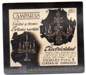 FOTOGRAFIA PUBLICITARIA,ELECTRICIDAD ROYO,ZARAGOZA,ORIGINAL,BUEN ESTADO,LUZ DE LOS CINES (Postales - Postales Temáticas - Publicitarias)
