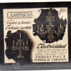 Postales: FOTOGRAFIA PUBLICITARIA,ELECTRICIDAD ROYO,ZARAGOZA,ORIGINAL,BUEN ESTADO,LUZ DE LOS CINES. Lote 46648576