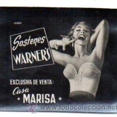 Postales: POSTALITA PUBLICITARIA,AÑOS 60,SOSTENES WARNERS,ORIGINAL,LUZ FIJA DE LOS CINES,. Lote 46649102