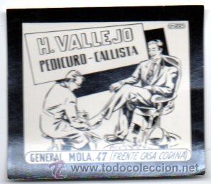 POSTAL PUBLICITARIA,VALLEJO,PEDICURO,ORIGINAL,AÑOS 60,LUZ FIJA DE LOS CINES, (Postales - Postales Temáticas - Publicitarias)