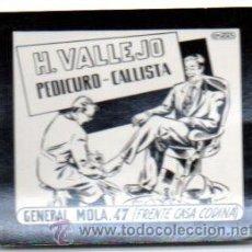 Postales: POSTAL PUBLICITARIA,VALLEJO,PEDICURO,ORIGINAL,AÑOS 60,LUZ FIJA DE LOS CINES,. Lote 46649660